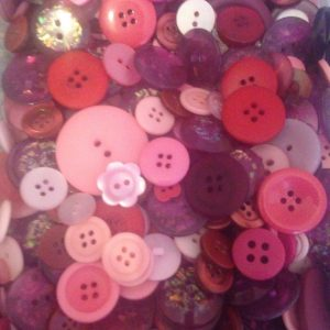 00 grams Buttons, Assorted, Pink Mix