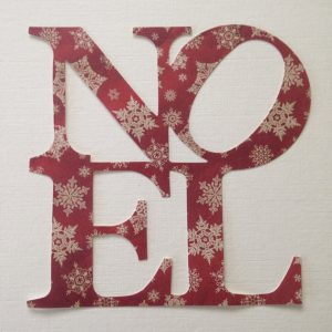 10 6 x 6 Assorted NOEL Die Cuts from Vintage Style Craft Card christmas cardmaking bunting