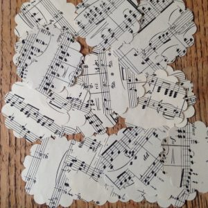 Scalloped Circles, Vintage Music Paper 3