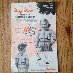 Vintage 1950's Mary Maxim Graph Style Knitting Pattern