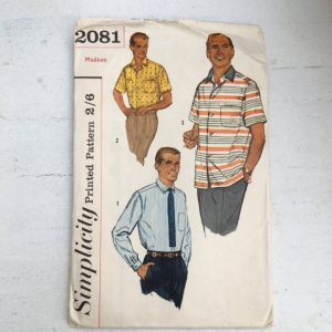 Vintage Mens Patterns, 1960's Simplicity Pattern