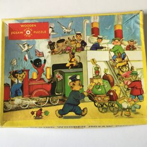 Vintage Puzzle, High Spot Wood Puzzle, Jig-Saw Puzzle, 20 Piece Puzzle, Children's Puzzle