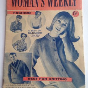 Vintage Woman's Weekly Ladies Fashion and Craft Magazine January 1965