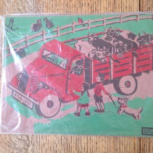 Vintage 1960's Wooden Jigsaw Puzzle ESA Stamped